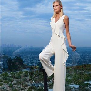 New ivory Antonio Melani jumpsuit with ruffle